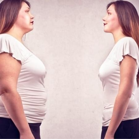 fat vs skinny woman